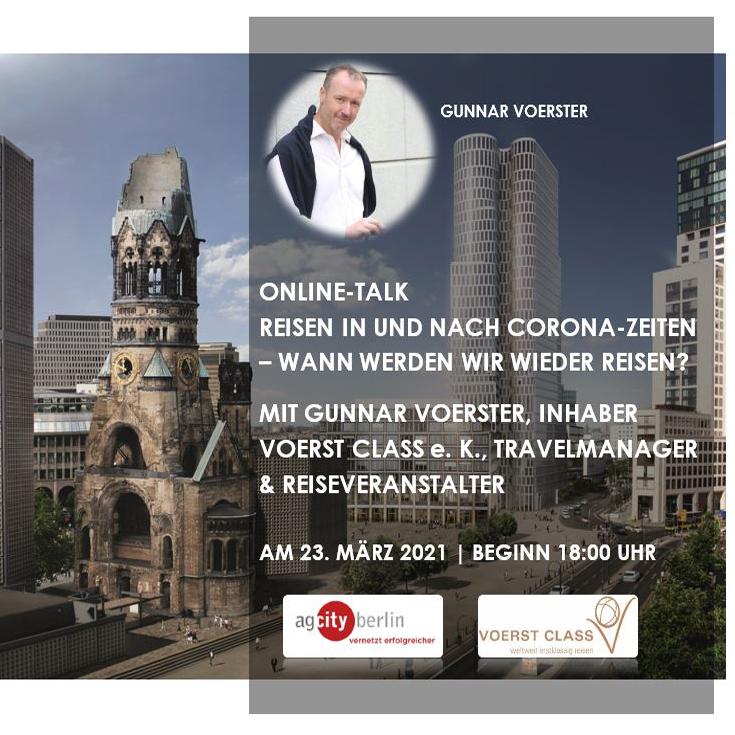 Anmeldung zum Online-Talk mit Gunnar Voerster, Inhaber VOERST CLASS e. K, Travel Manager & Reiseveranstalter