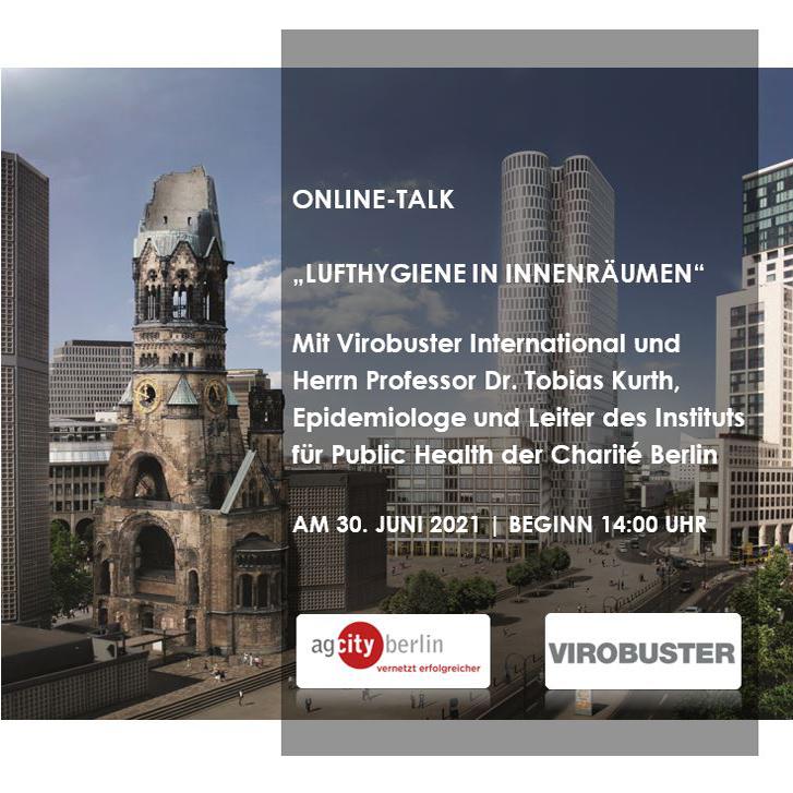 """ANMELDUNG ZUM ONLINE-TALK  """"Lufthygiene in Innenräumen"""""""