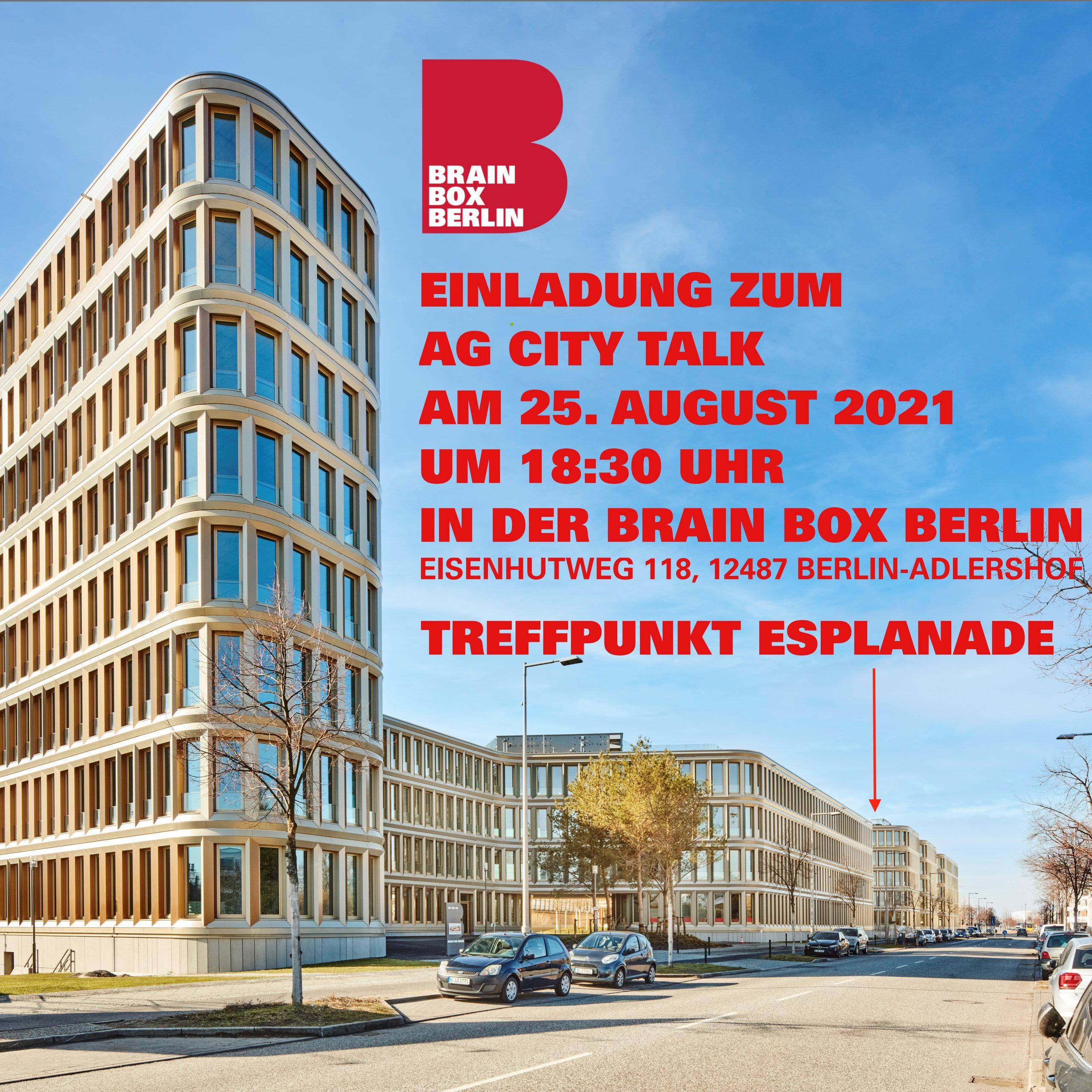 CITY TALK 25.08.2021 BRAIN BOX BERLIN